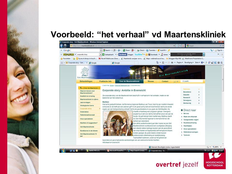 """Voorbeeld: """"het verhaal"""" vd Maartenskliniek"""