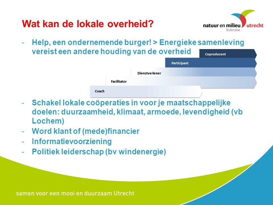 Wat kan de lokale overheid? -Help, een ondernemende burger! > Energieke samenleving vereist een andere houding van de overheid -Schakel lokale coöpera