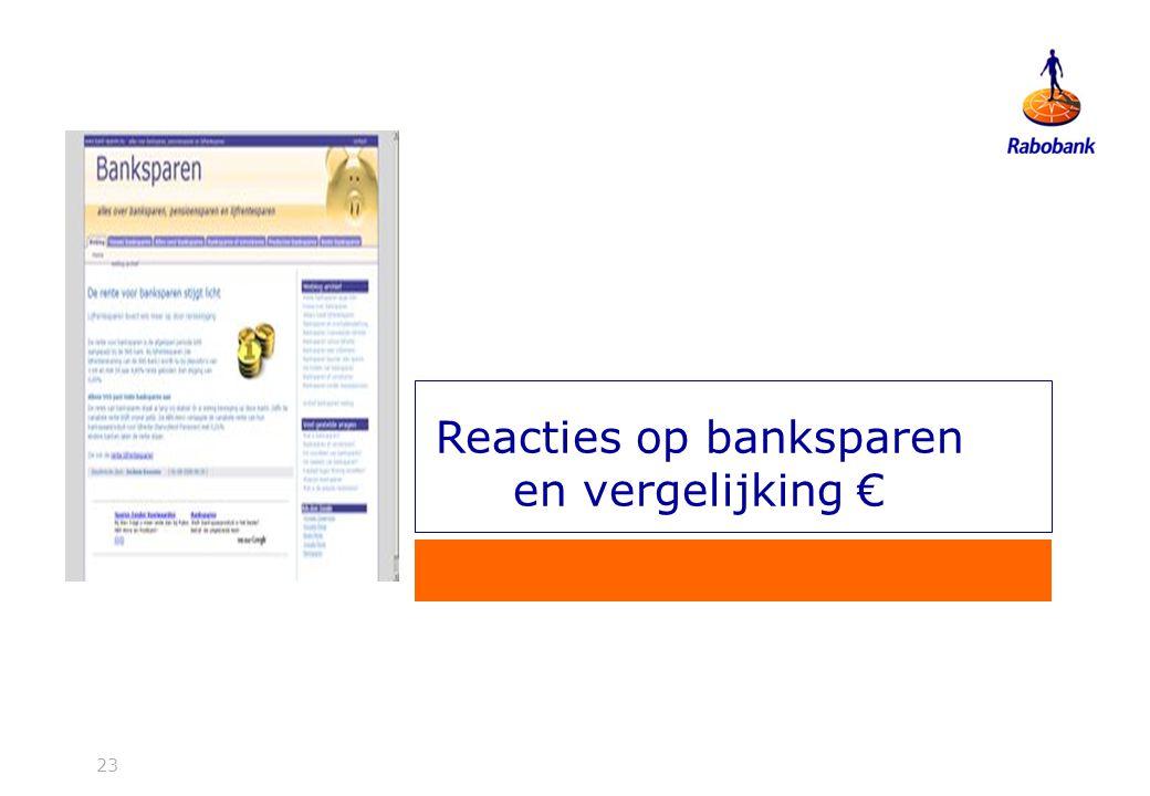 23 Reacties op banksparen en vergelijking €