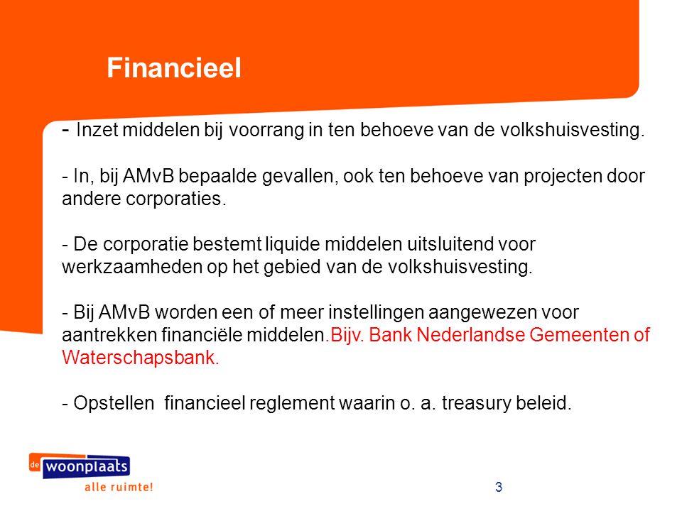 3 - Inzet middelen bij voorrang in ten behoeve van de volkshuisvesting. - In, bij AMvB bepaalde gevallen, ook ten behoeve van projecten door andere co