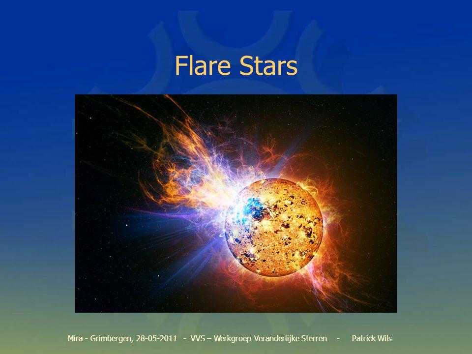 Flares in SuperWASP Data bekijken van gekende flare-sterren Data van rode dwergen –o.a.