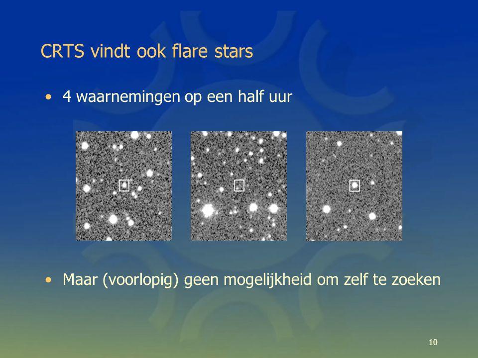 CRTS vindt ook flare stars 10 4 waarnemingen op een half uur Maar (voorlopig) geen mogelijkheid om zelf te zoeken