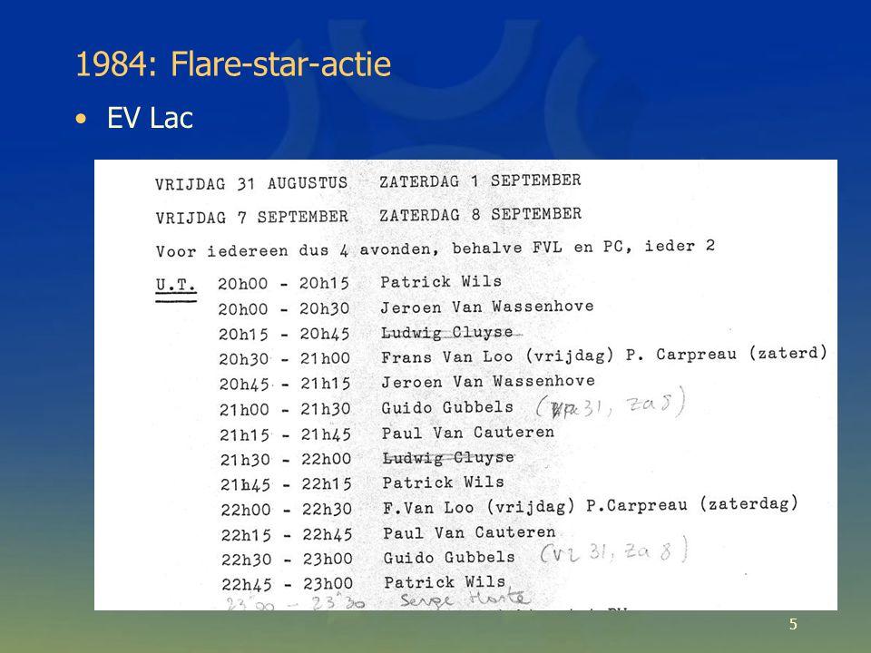Rotatie van flare stars Zonneflares -> zonnevlekken Ook voor rode dwergen (prototype: BY Dra): –Grotere vlekken + grotere temperatuursverschillen: grotere amplitude 16
