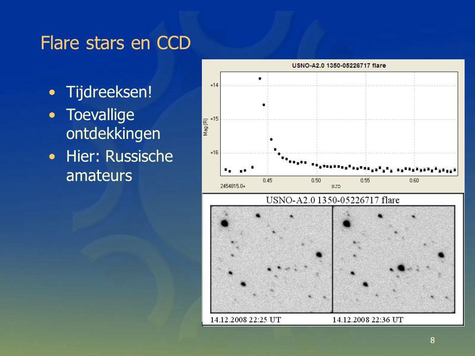 Flare stars en CCD 8 Tijdreeksen! Toevallige ontdekkingen Hier: Russische amateurs