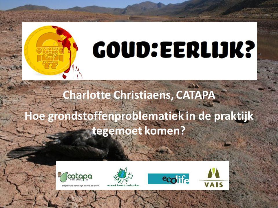 Charlotte Christiaens, CATAPA Hoe grondstoffenproblematiek in de praktijk tegemoet komen?