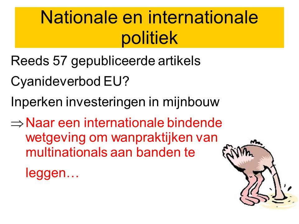 Nationale en internationale politiek Reeds 57 gepubliceerde artikels Cyanideverbod EU.