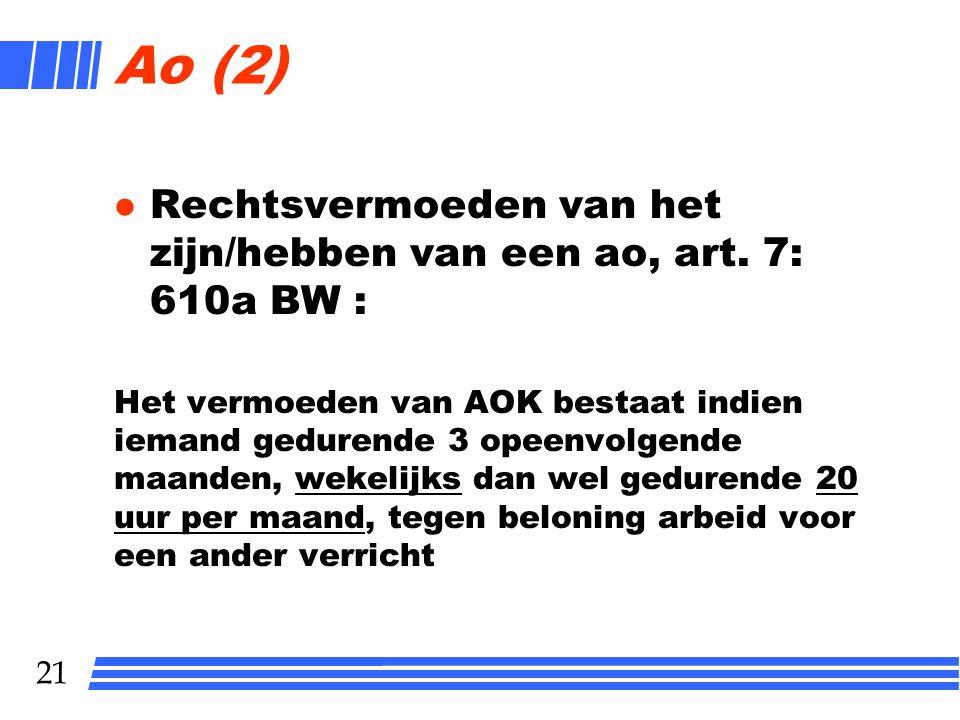 20 Ao (1) Voor bepaalde tijd of voor onbepaalde tijd.