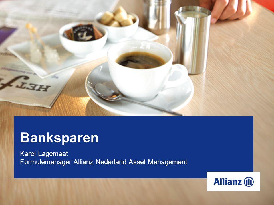 Banksparen Karel Lagemaat Formulemanager Allianz Nederland Asset Management