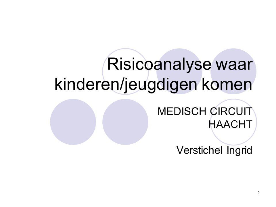 1 Risicoanalyse waar kinderen/jeugdigen komen MEDISCH CIRCUIT HAACHT Verstichel Ingrid