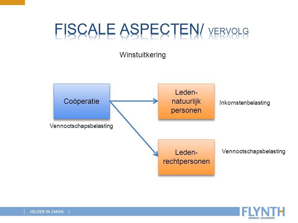 Coöperatie Leden- natuurlijk personen Leden- rechtpersonen Winstuitkering Vennootschapsbelasting Inkomstenbelasting