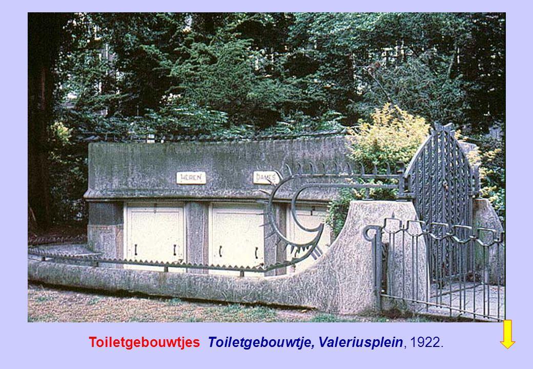 Toiletgebouwtjes Toiletgebouwtje, Valeriusplein, 1922.