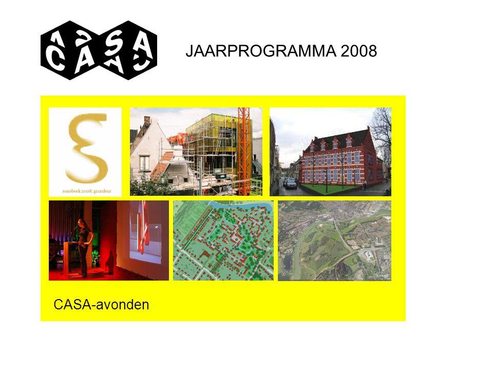 JAARPROGRAMMA 2008 CASA-avonden
