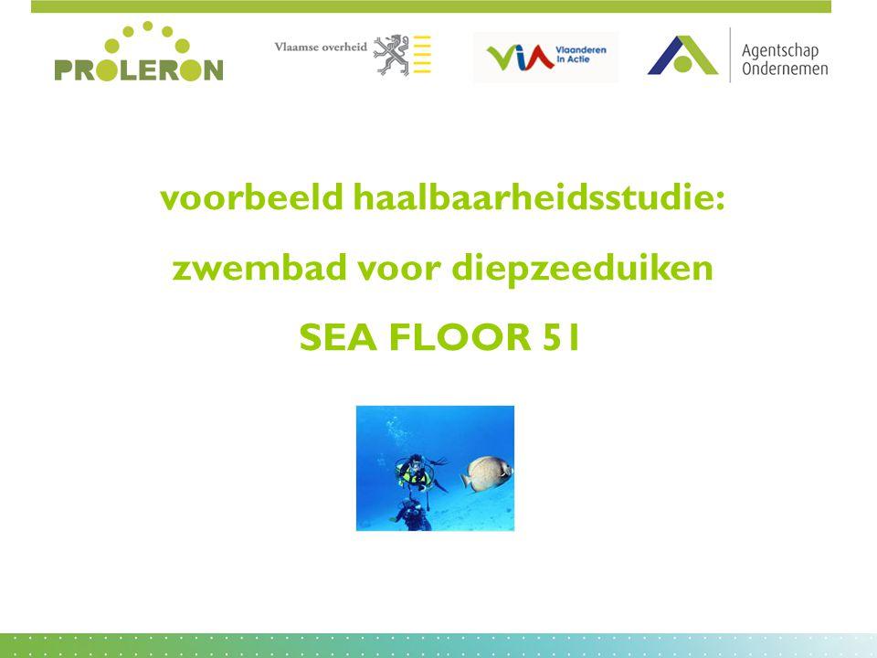 voorbeeld haalbaarheidsstudie: zwembad voor diepzeeduiken SEA FLOOR 51