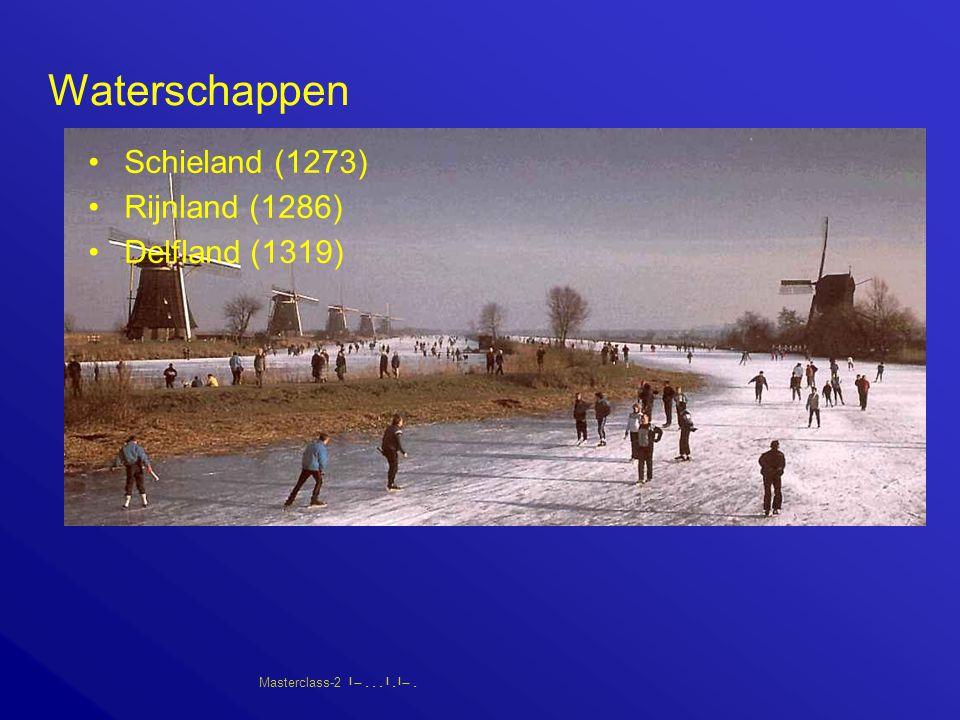 Masterclass-2       Waterschappen Schieland (1273) Rijnland (1286) Delfland (1319)