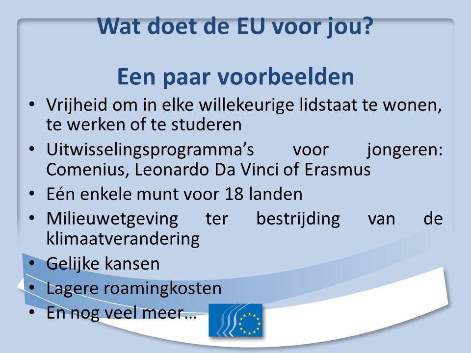 Wat doet de EU voor jou.
