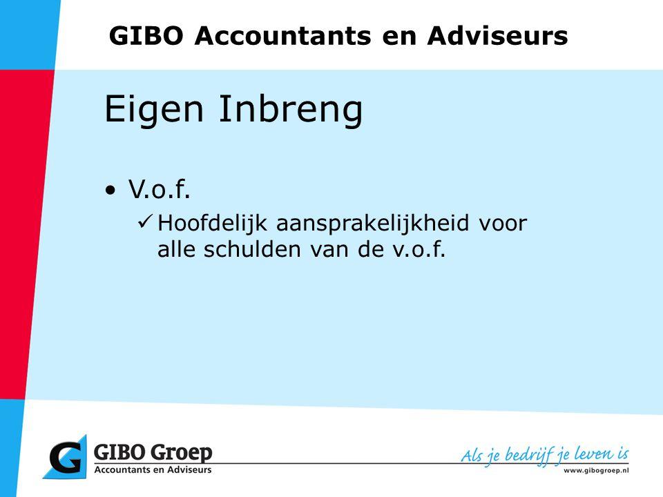 GIBO Accountants en Adviseurs Eigen Inbreng V.o.f.