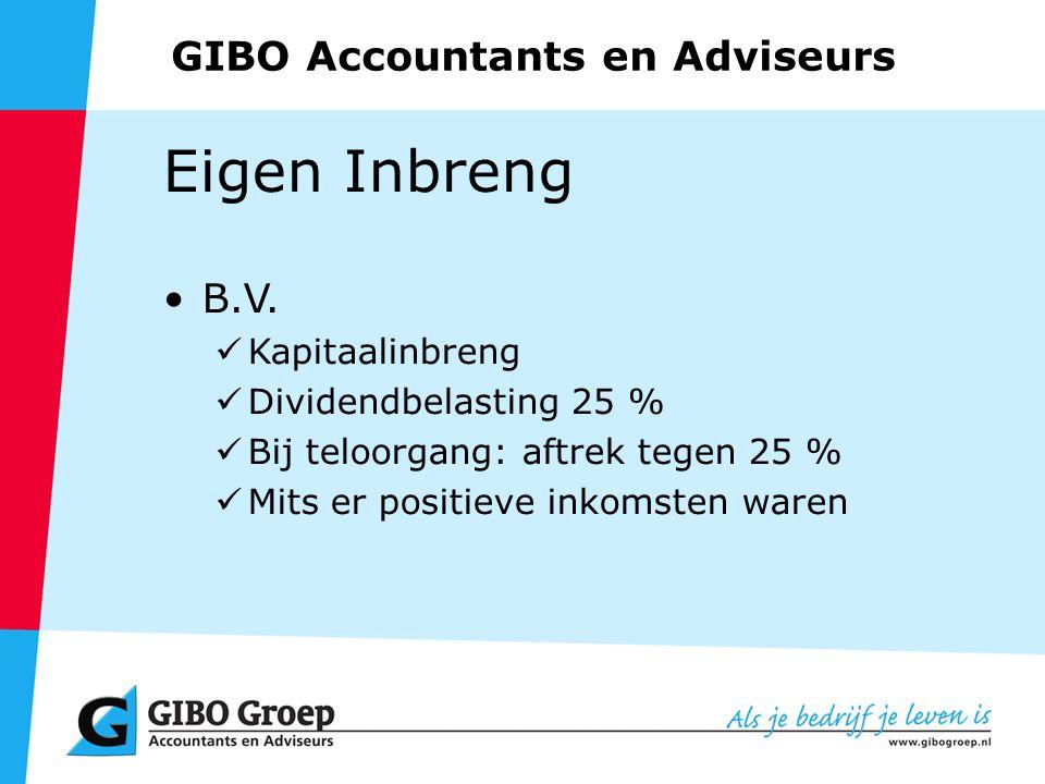GIBO Accountants en Adviseurs Eigen Inbreng B.V.