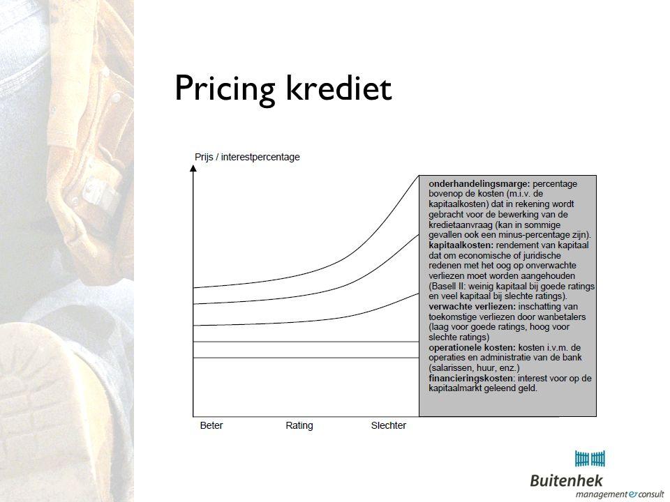 Pricing krediet