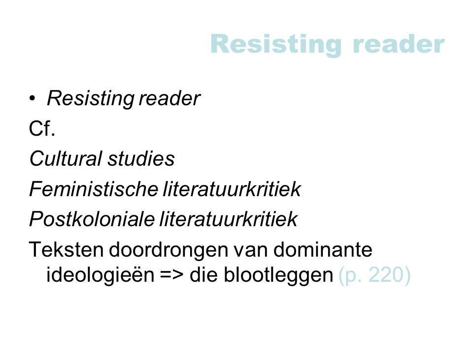 Resisting reader Cf.