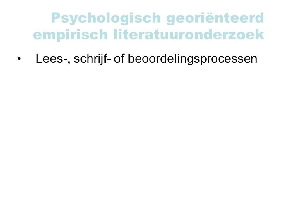 Psychologisch georiënteerd empirisch literatuuronderzoek Lees-, schrijf- of beoordelingsprocessen