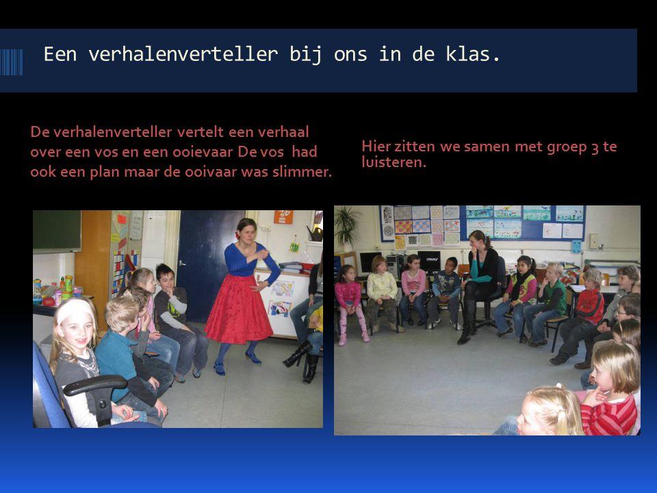 Een verhalenverteller bij ons in de klas.