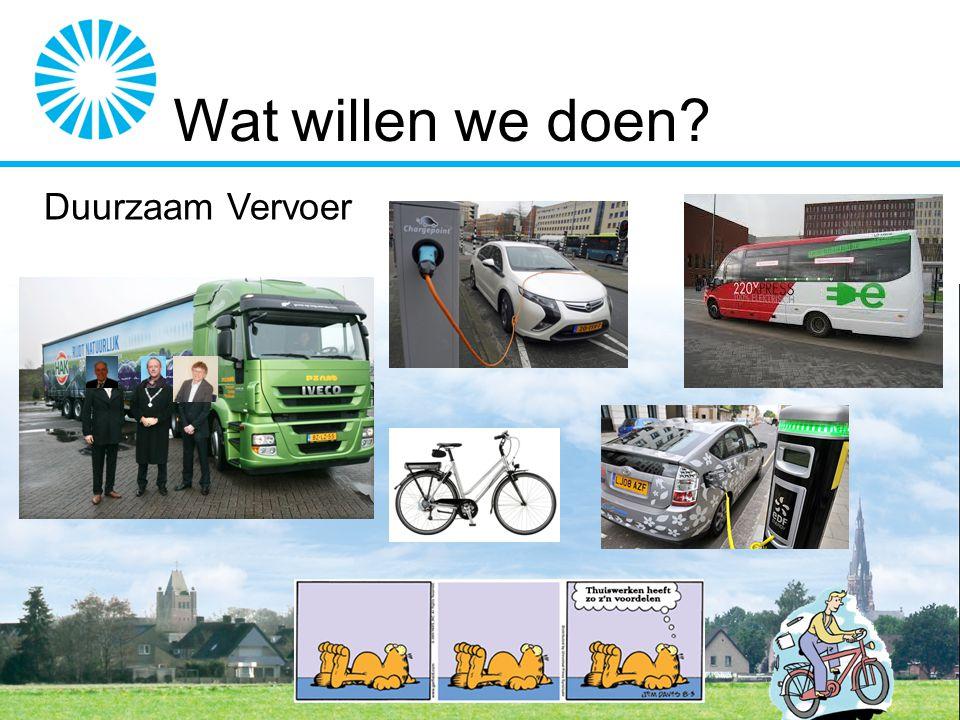 Wat willen we doen? Duurzaam Vervoer