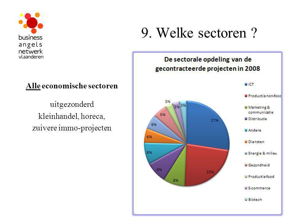 9. Welke sectoren .