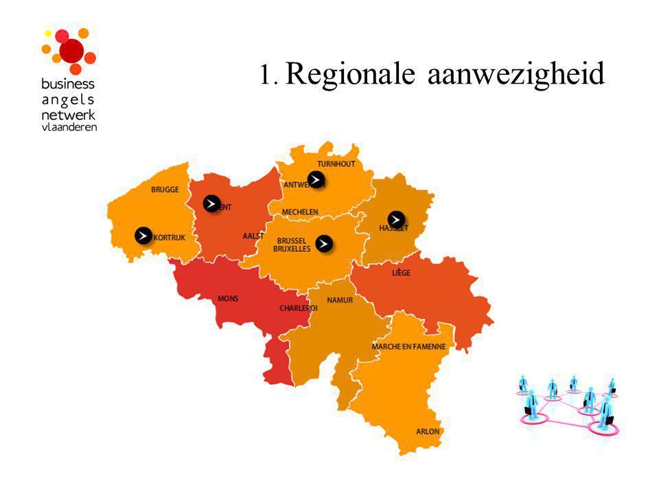 1. Regionale aanwezigheid
