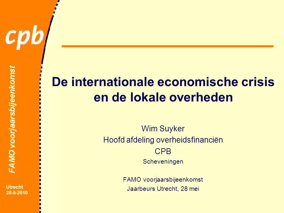 FAMO voorjaarsbijeenkomst Utrecht 28-5-2010 Overheidsfinanciën trendscenario en 2 varianten
