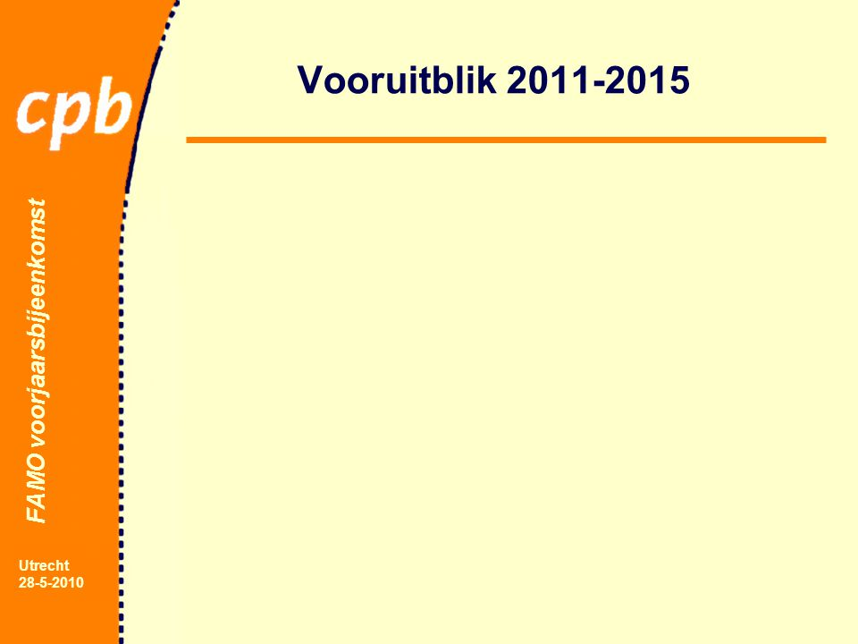 FAMO voorjaarsbijeenkomst Utrecht 28-5-2010 Vooruitblik 2011-2015
