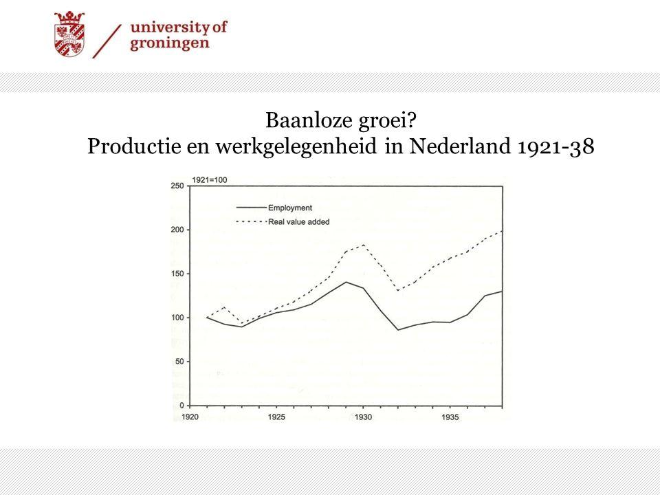 Baanloze groei Productie en werkgelegenheid in Nederland 1921-38