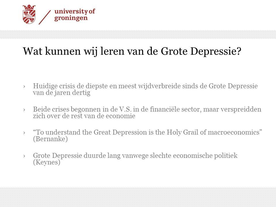 Wat kunnen wij leren van de Grote Depressie.