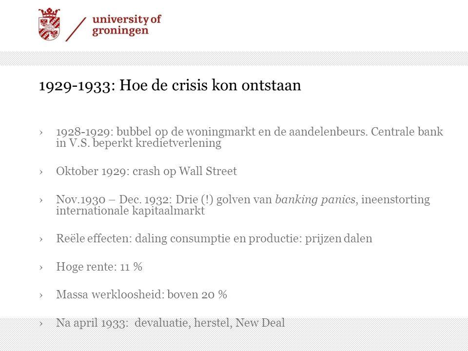 1929-1933: Hoe de crisis kon ontstaan ›1928-1929: bubbel op de woningmarkt en de aandelenbeurs.