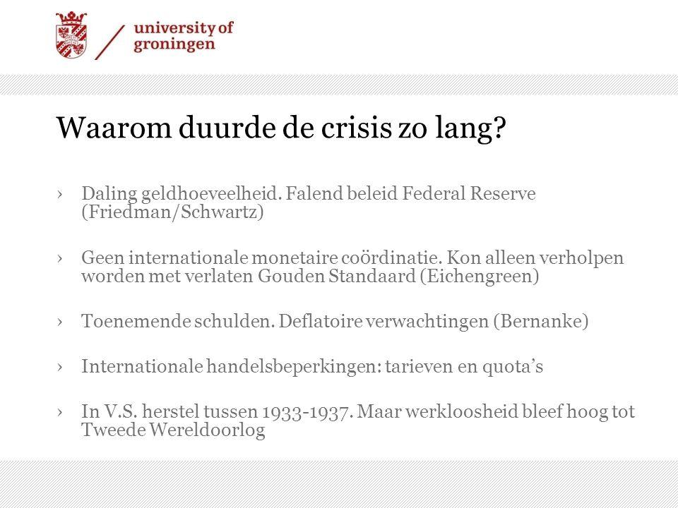 Waarom duurde de crisis zo lang. ›Daling geldhoeveelheid.