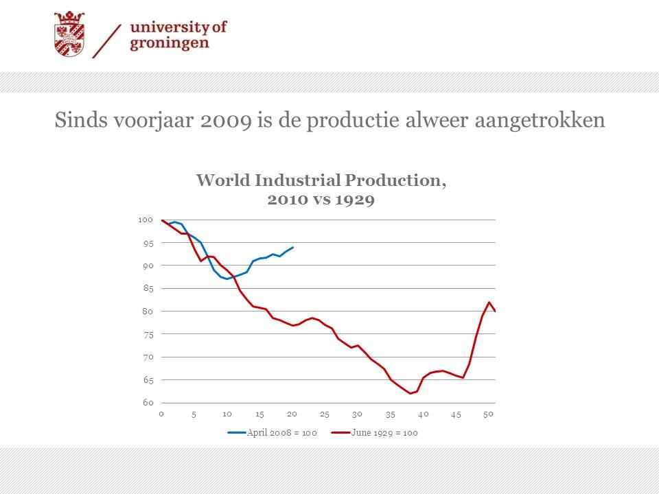 Sinds voorjaar 2009 is de productie alweer aangetrokken