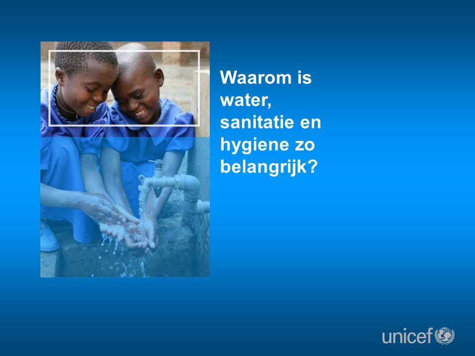Waarom is water, sanitatie en hygiene zo belangrijk