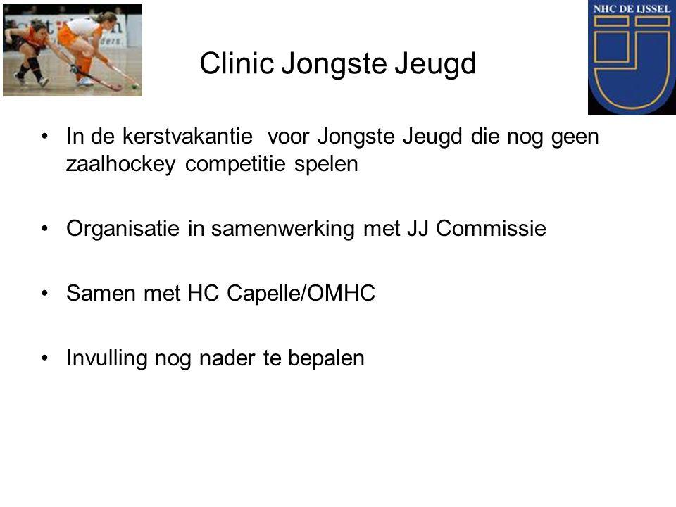 Clinic Jongste Jeugd In de kerstvakantie voor Jongste Jeugd die nog geen zaalhockey competitie spelen Organisatie in samenwerking met JJ Commissie Sam