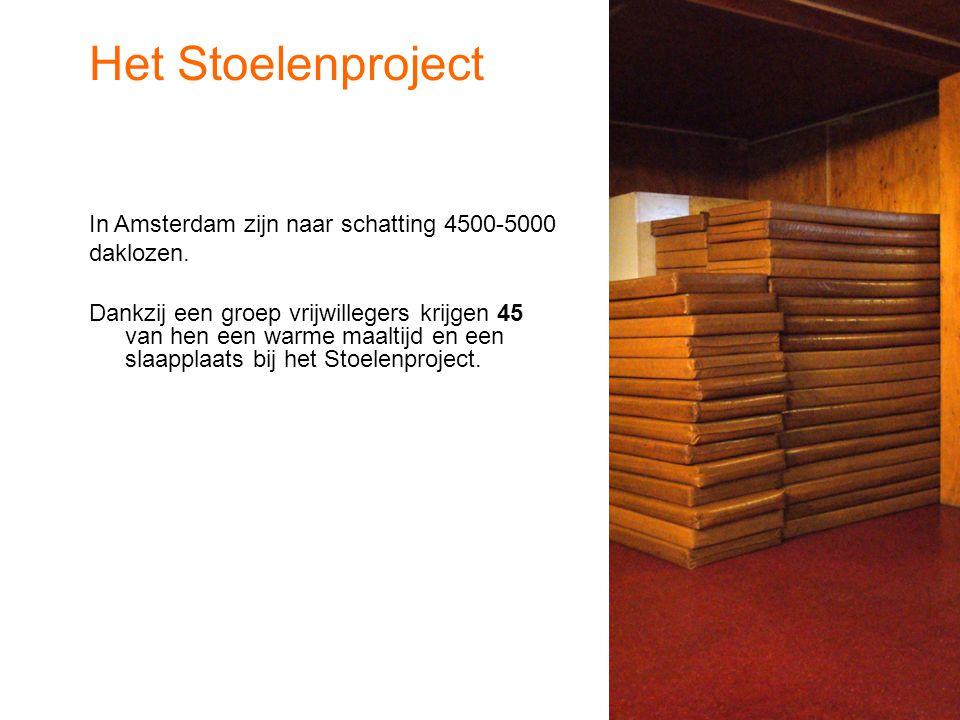 In Amsterdam zijn naar schatting 4500-5000 daklozen.