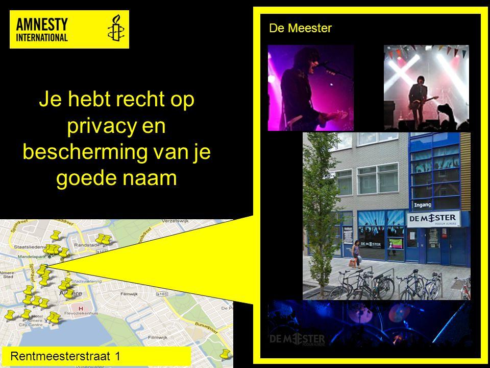 Je hebt recht op privacy en bescherming van je goede naam v De Meester Rentmeesterstraat 1