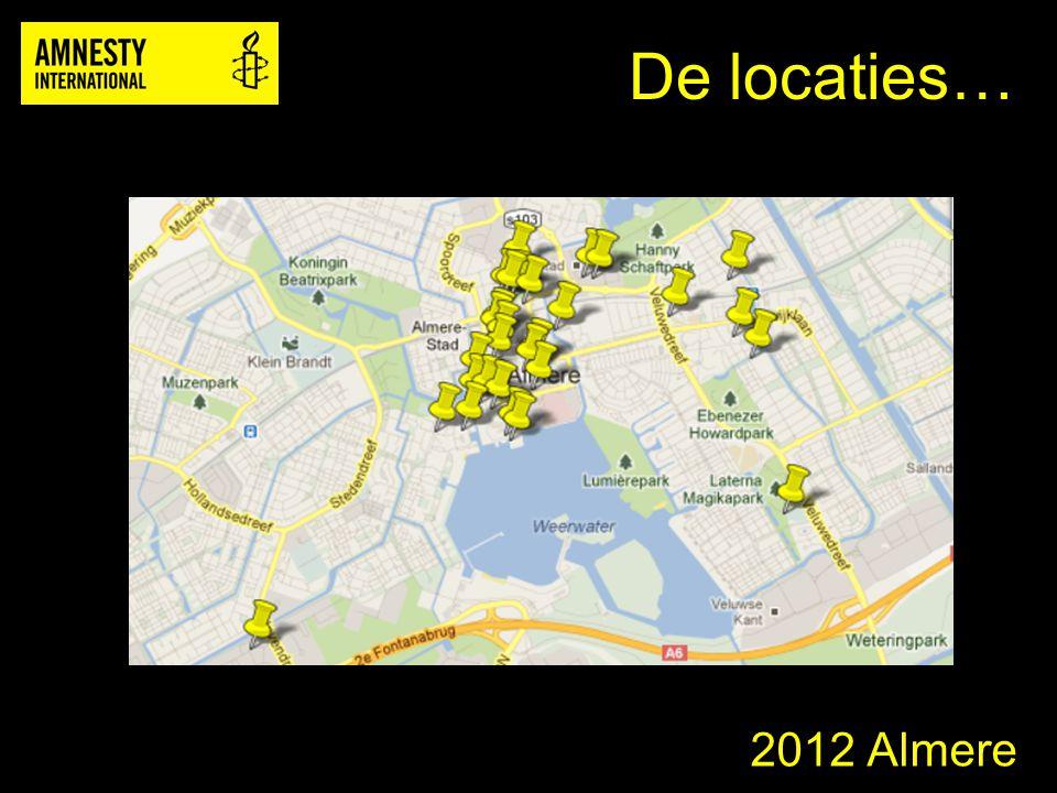2012 Almere De locaties…