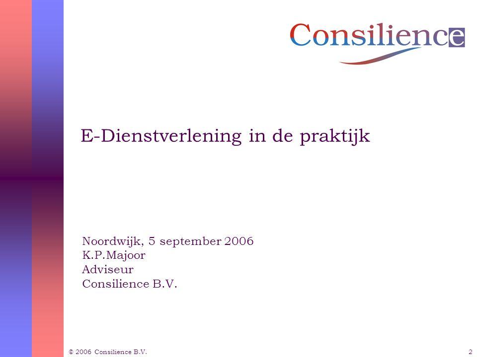 © 2006 Consilience B.V.3 Inhoudsopgave  Waar gaat het over.