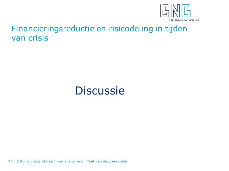 Financieringsreductie en risicodeling in tijden van crisis 17   Datum, plaats of naam van evenement   Titel van de presentatie