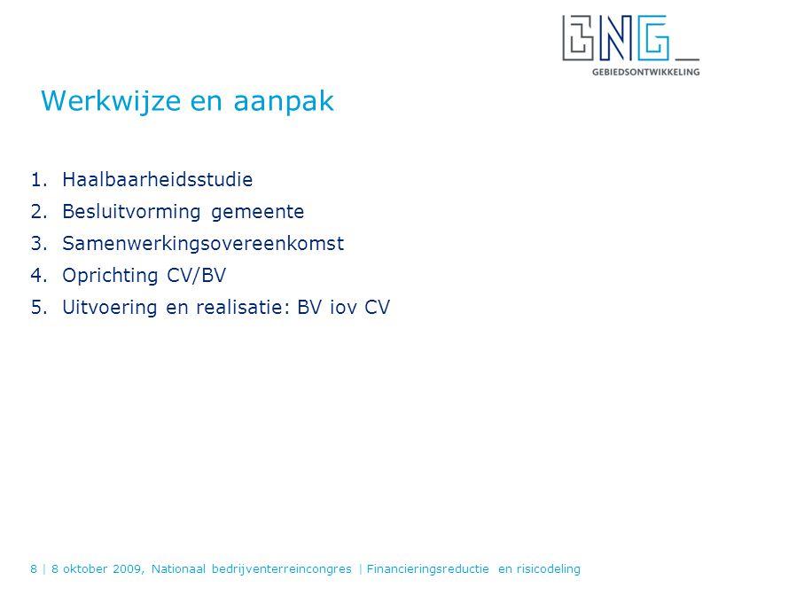 Praktijkvoorbeeld: Regionaal Bedrijvenpark Laarakker Facts Project BV / CV Grondexploitatie Financiële systematiek Risicodeling 9 | Datum, plaats of naam van evenement | Titel van de presentatie