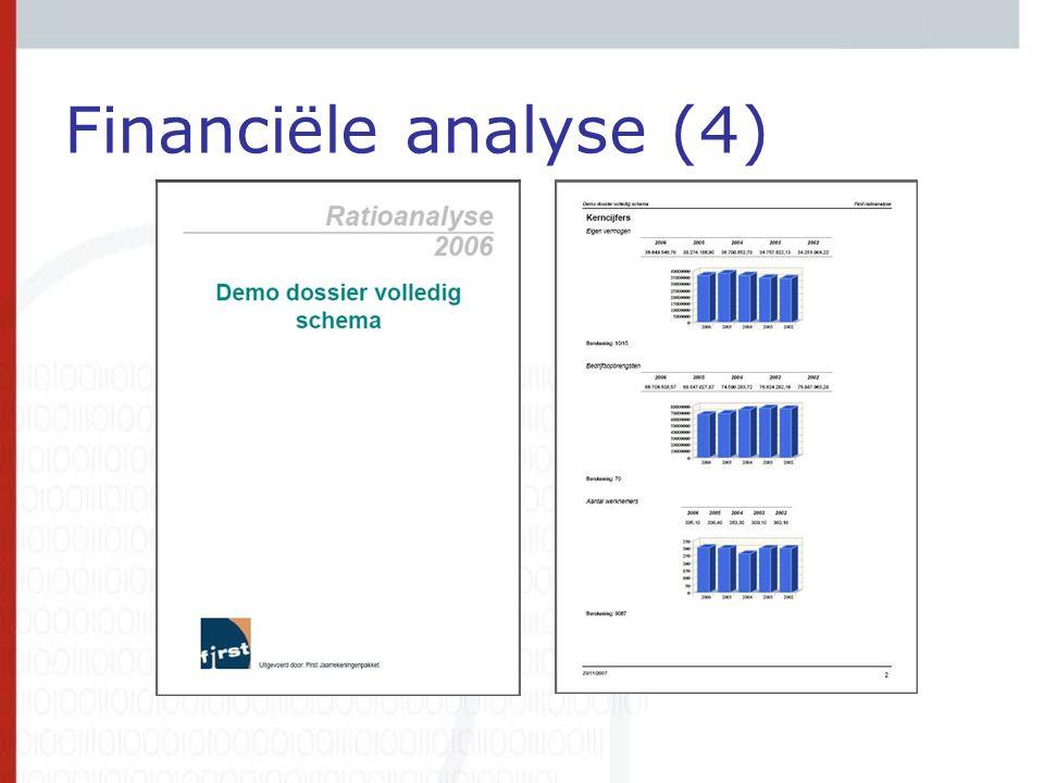 Financiële analyse (4)