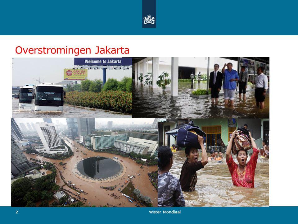 Overstromingen Jakarta Water Mondiaal 2