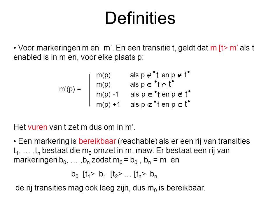 Definities Voor markeringen m en m'.