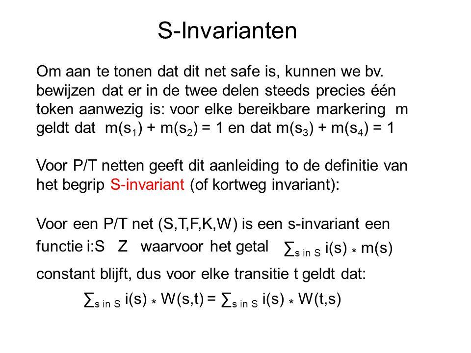 S-Invarianten Om aan te tonen dat dit net safe is, kunnen we bv.