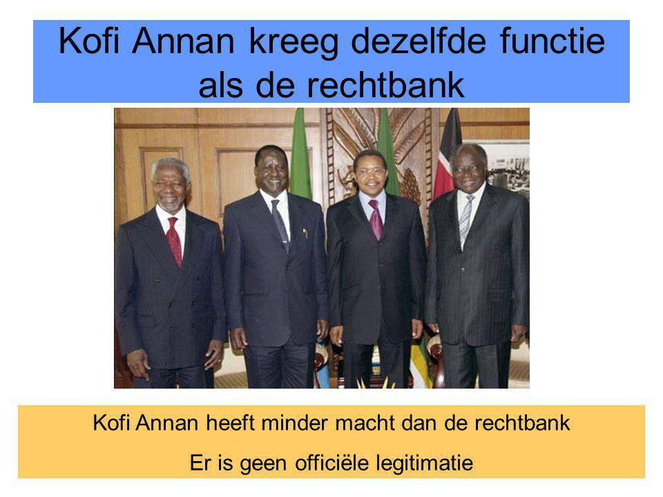 32 Kofi Annan kreeg dezelfde functie als de rechtbank Kofi Annan heeft minder macht dan de rechtbank Er is geen officiële legitimatie
