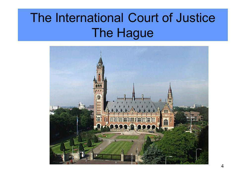 4 The International Court of Justice The Hague
