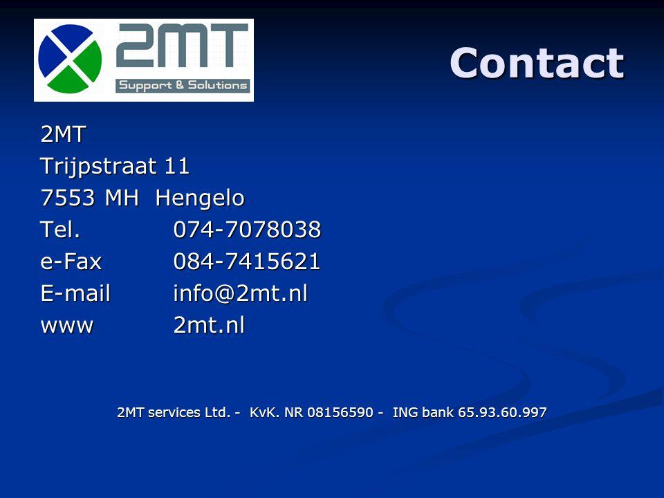 Contact 2MT Trijpstraat 11 7553 MH Hengelo Tel.
